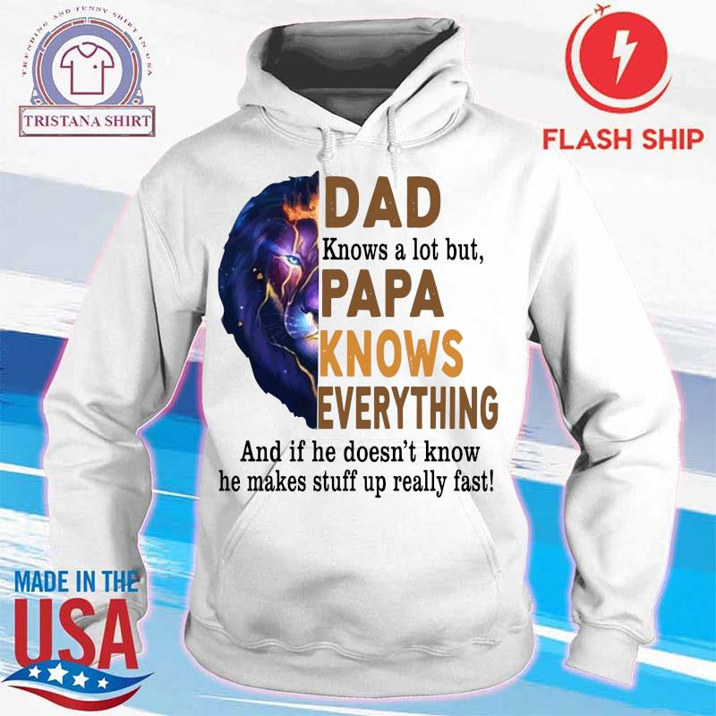 Lion Dad Knows A Lot But Papa Knows Everything Shirt hoodie